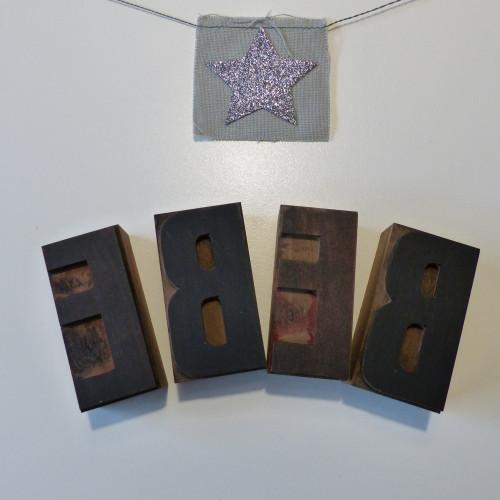 Lettres d'imprimerie en bois BEBE