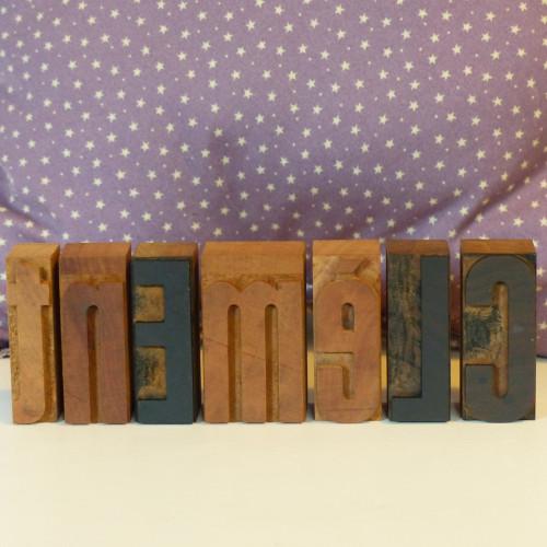 Lettres d'imprimerie en bois - Clément
