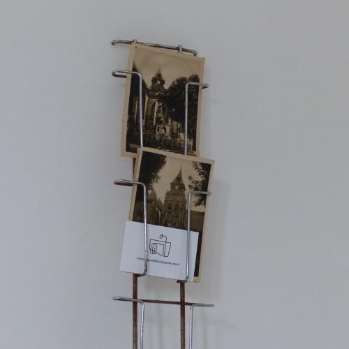 Pr sentoir mural en m tal pour photos et cartes postales - Porte cartes postales mural ...