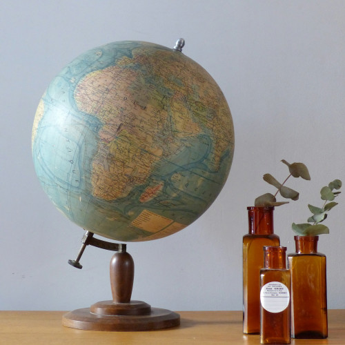 Grand globe terrestre Forest des années 30