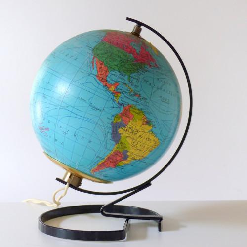 Petit globe terrestre lumineux Taride