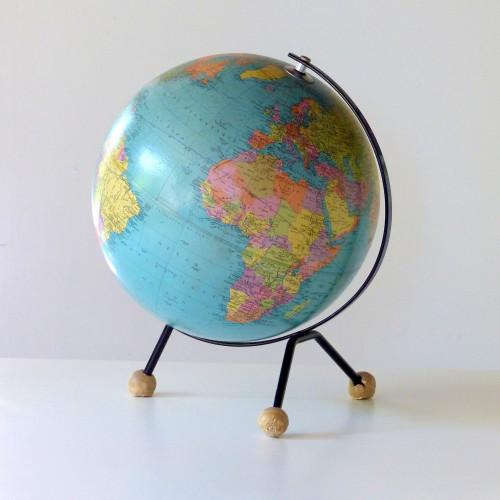 Globe terrestre tripode TARIDE