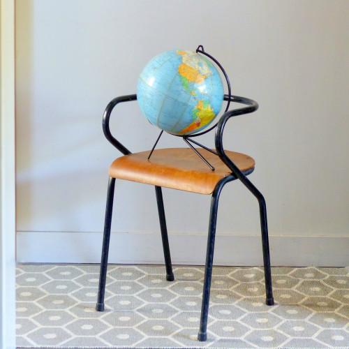 Globe terrestre tripode Girard et Barrère