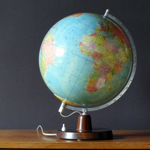 Grand globe terrestre lumineux Rath