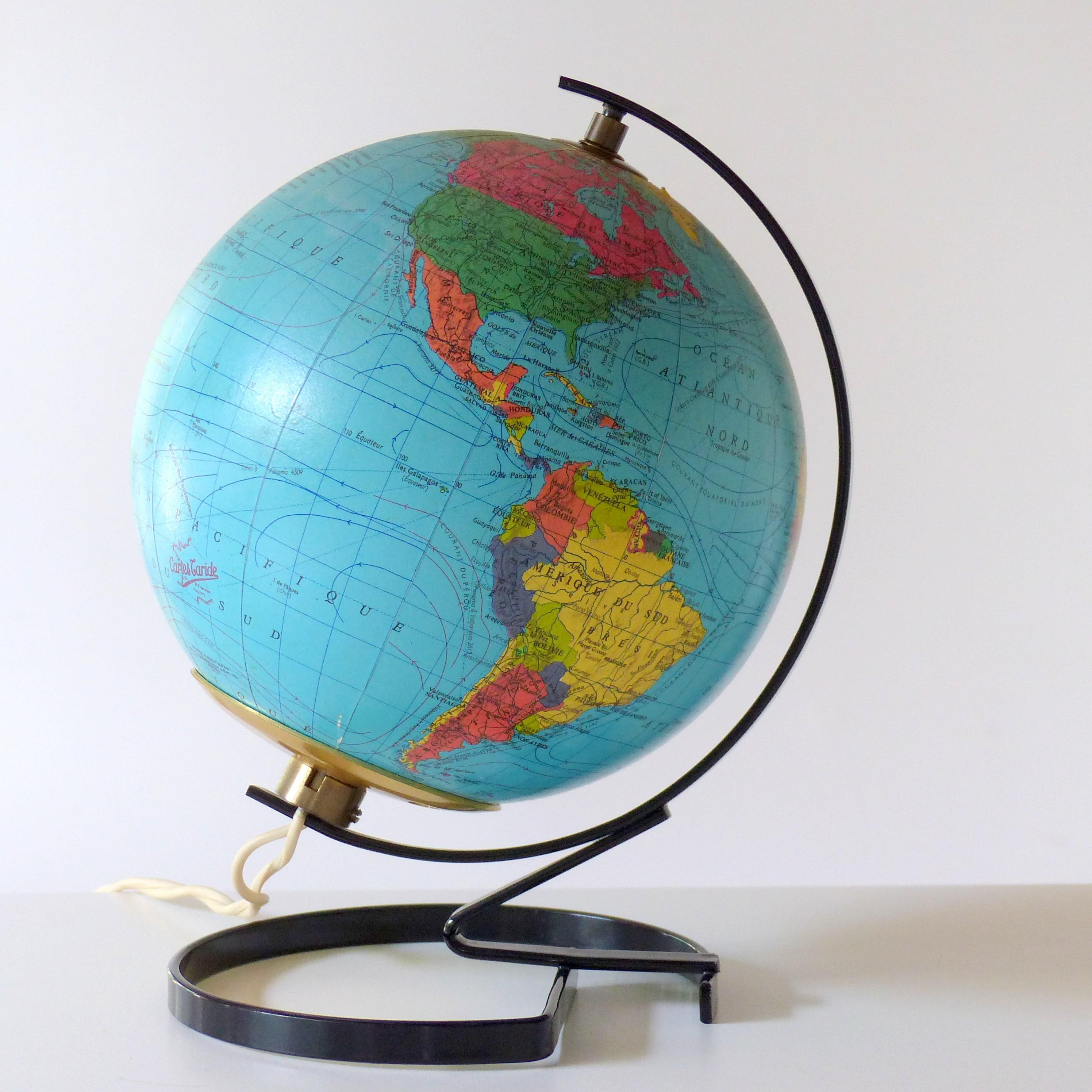 petit globe terrestre lumineux taride lignedebrocante. Black Bedroom Furniture Sets. Home Design Ideas
