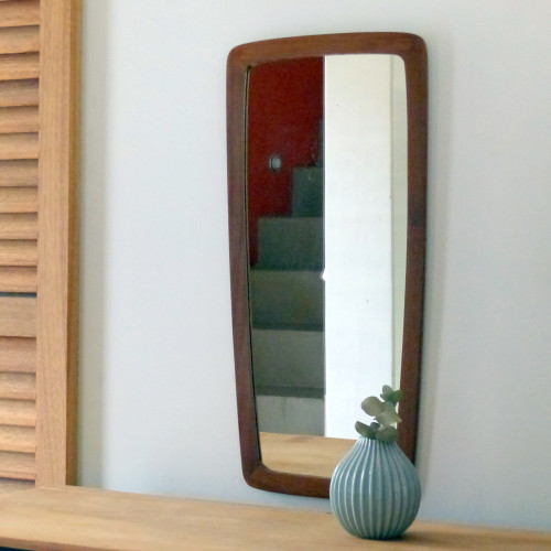 Miroir asymétrique en teck