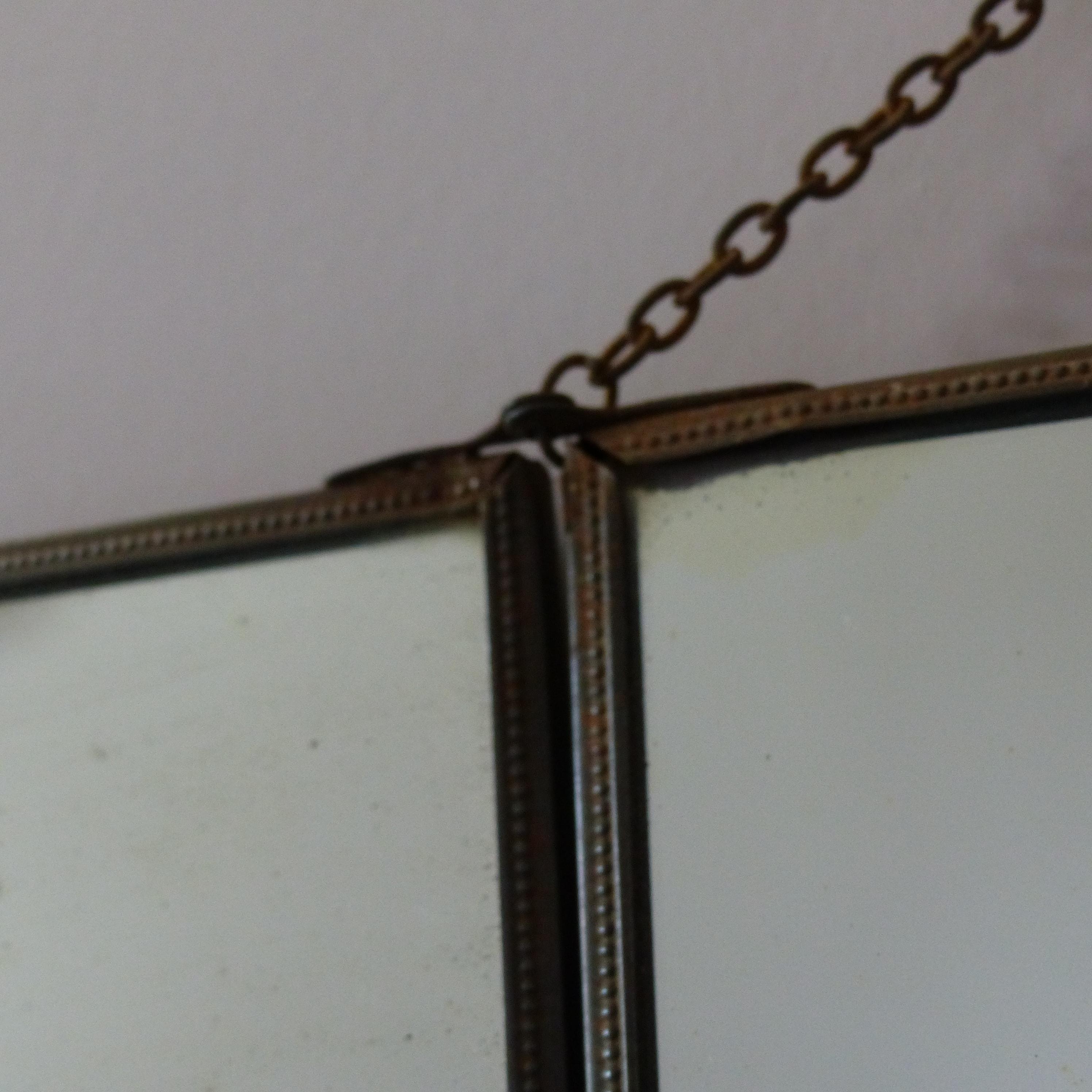 Miroir triptyque de barbier elegant grand miroir for Miroir triptyque barbier