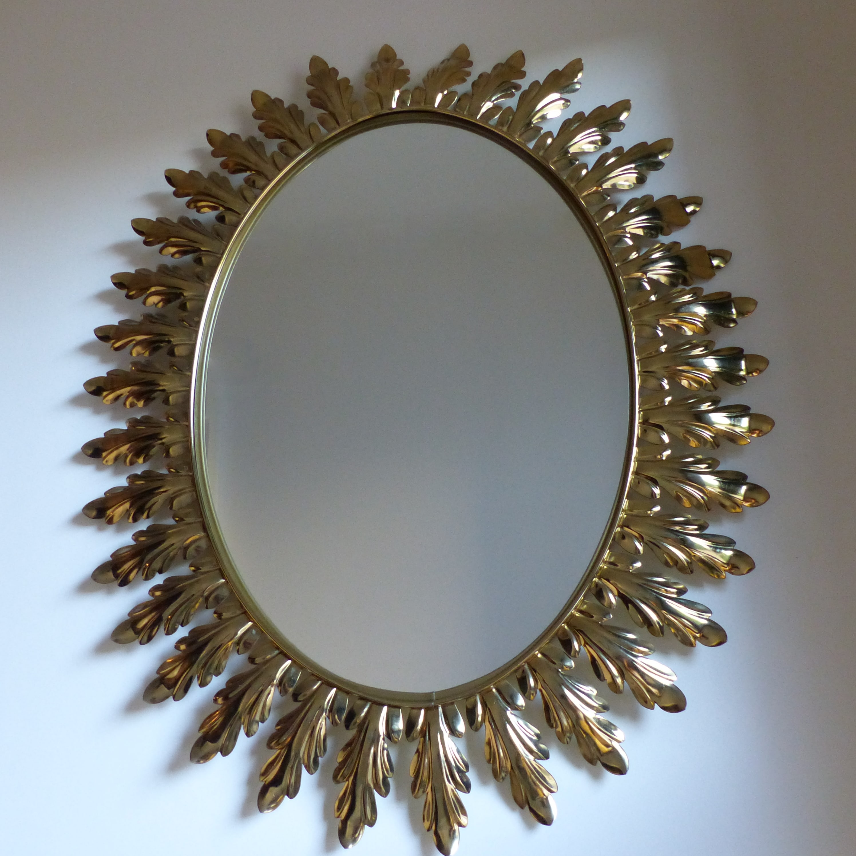 miroir vintage d cor de feuilles lignedebrocante. Black Bedroom Furniture Sets. Home Design Ideas