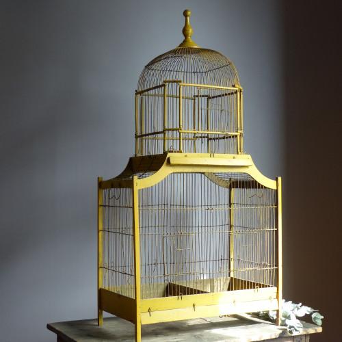 Cage à oiseaux en bois Napoléon III