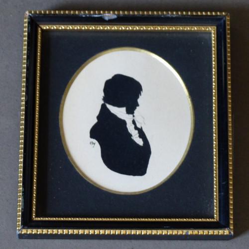 Cadre style Napoléon III - Silhouette d'un homme
