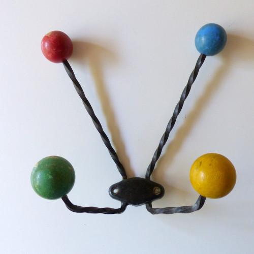 Portemanteau boules années 50