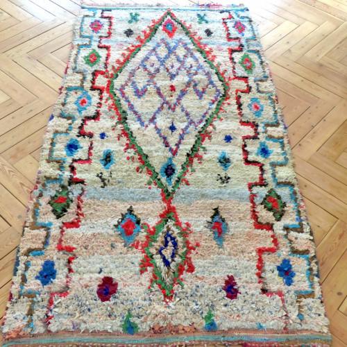 Tapis Bouchérouite à motifs géométriques
