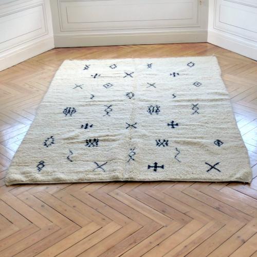 Grand tapis berbère à motifs des tribus de la région d'Azilal