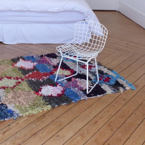 Tapis Bouchérouite multicolore motifs losanges