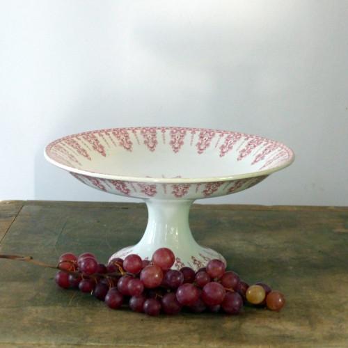 Compotier en porcelaine opaque de gien - Terre de fer