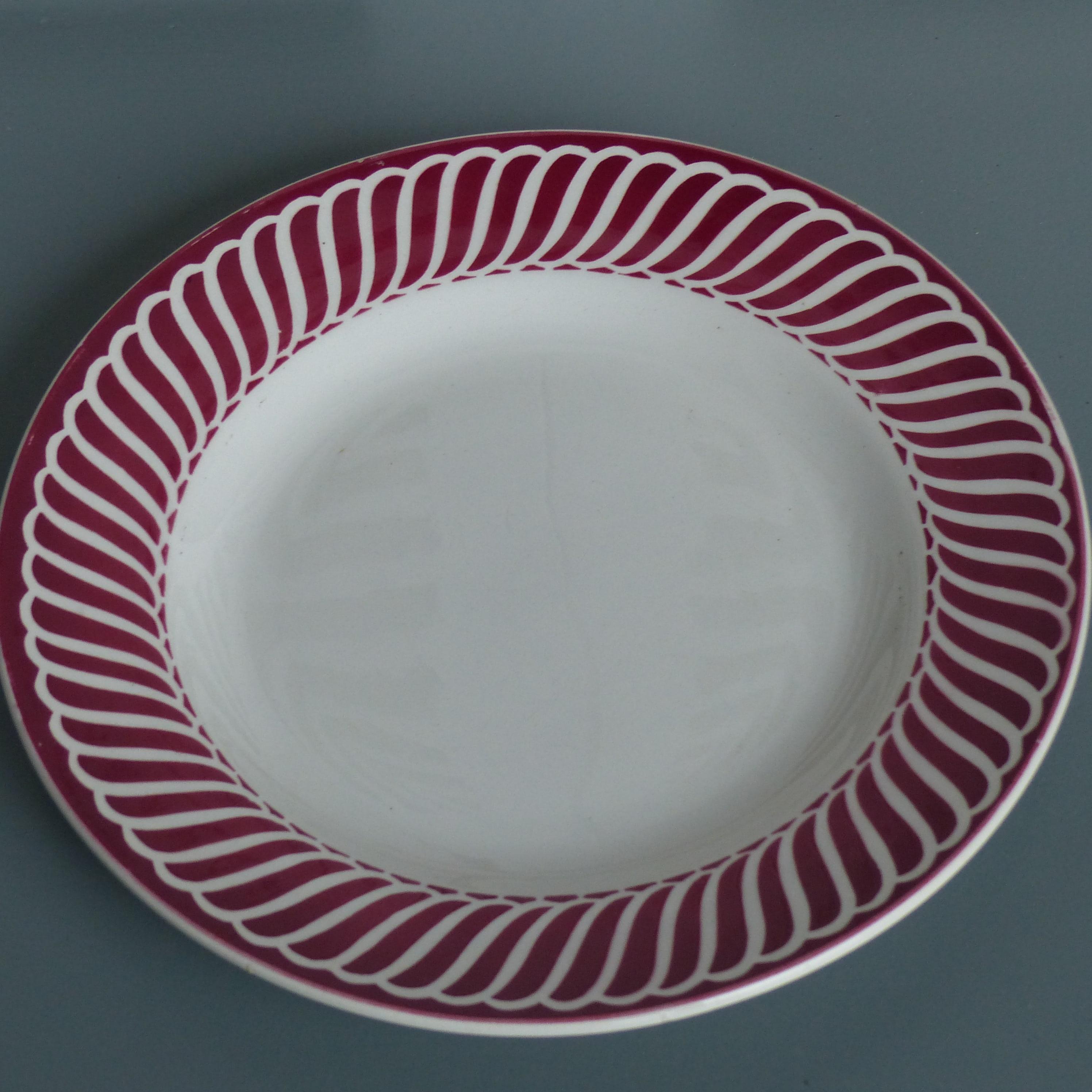 Assiettes Plates Decor Rouge