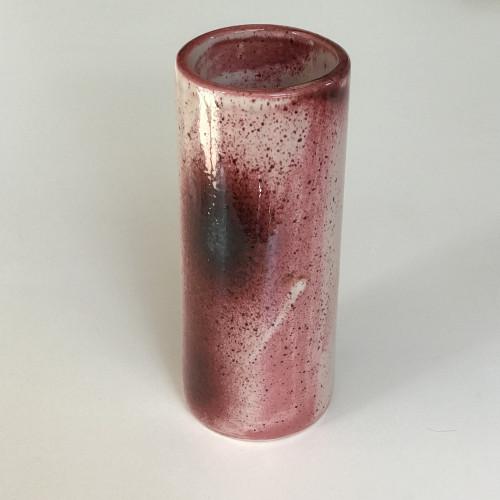 Vase rouleau en céramique signé Idlas