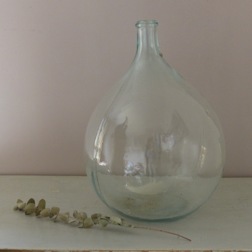 Grande Dame Jeanne en verre transparent