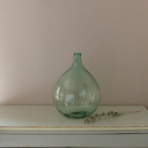 Dame Jeanne en verre vert clair