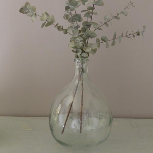 Petite Dame Jeanne en verre transparent