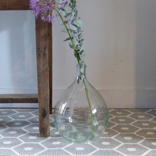 petite dame jeanne en verre transparent lignedebrocante brocante en ligne chine pour vous. Black Bedroom Furniture Sets. Home Design Ideas