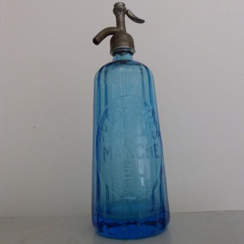 Ancien siphon à eau de Seltz - Bleu