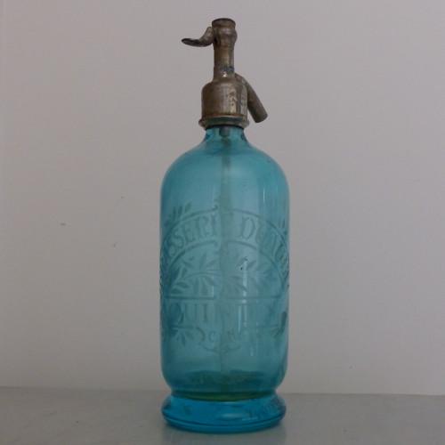 Ancien siphon à eau de Seltz - vert