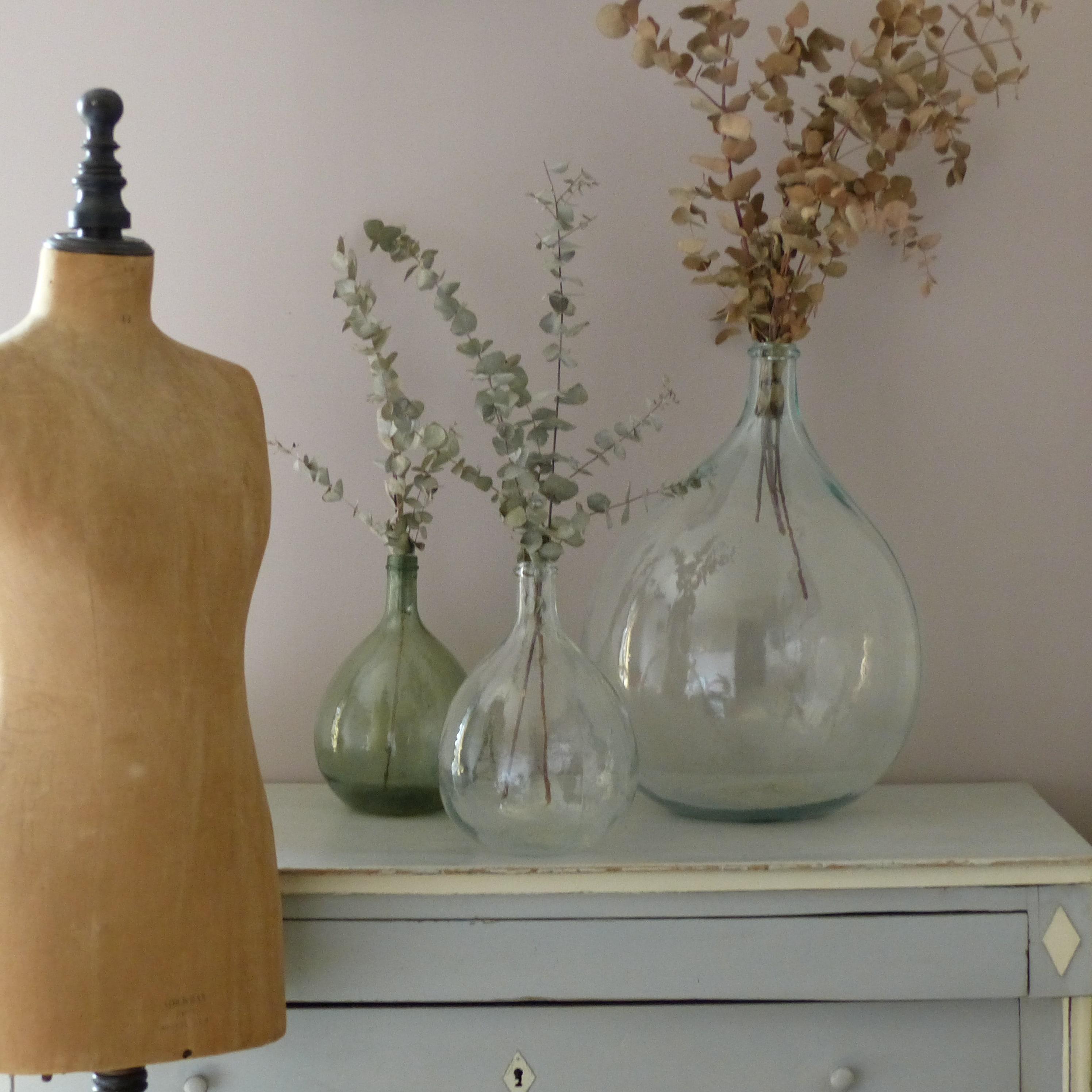 grande dame jeanne en verre transparent lignedebrocante. Black Bedroom Furniture Sets. Home Design Ideas