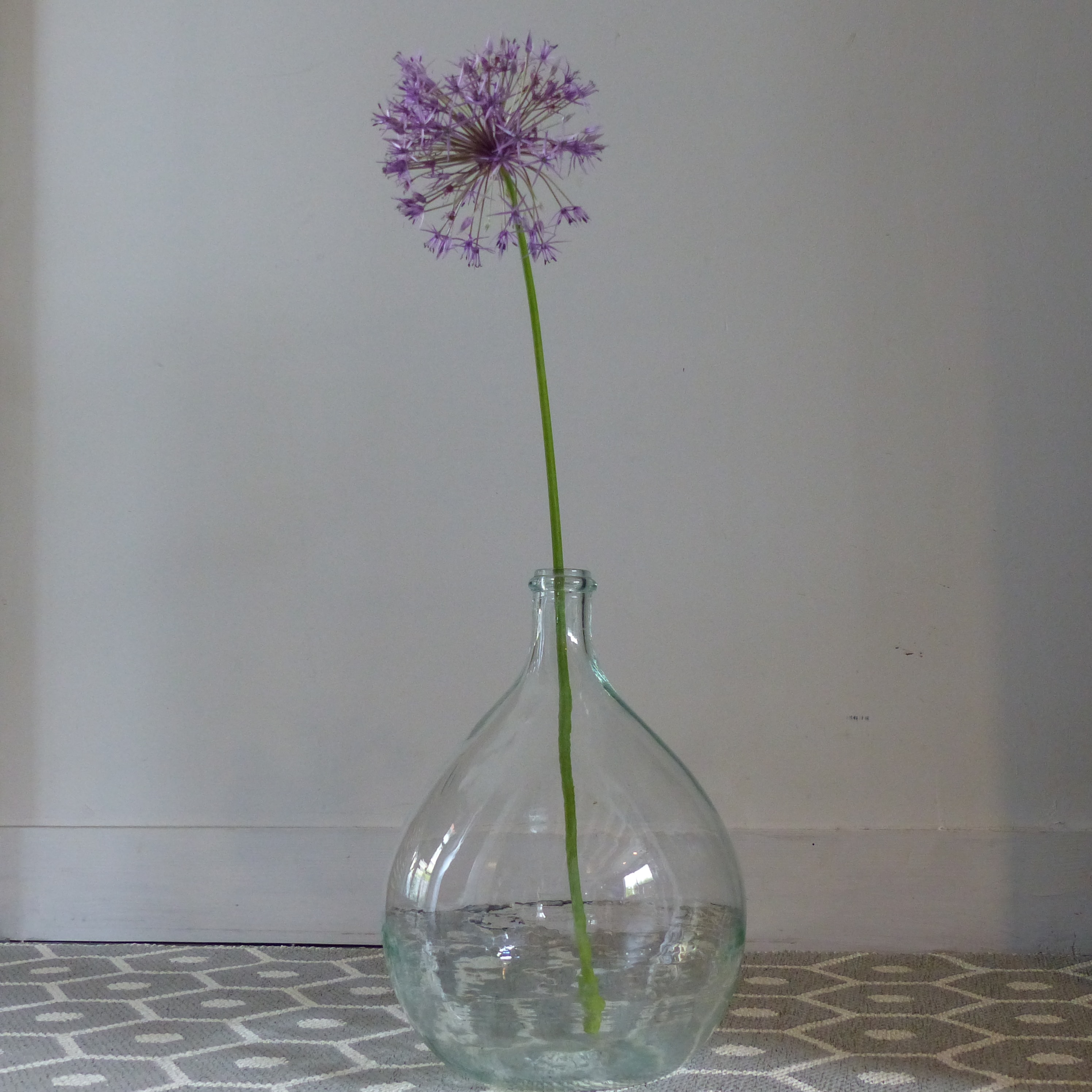 petite dame jeanne en verre transparent lignedebrocante. Black Bedroom Furniture Sets. Home Design Ideas