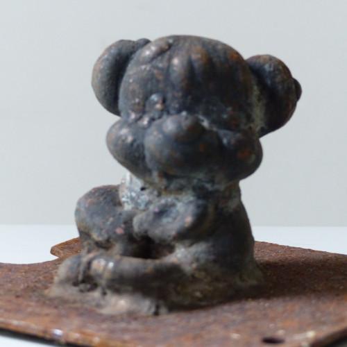 Ancien moule de figurine Pouet pouet - Ourson assis
