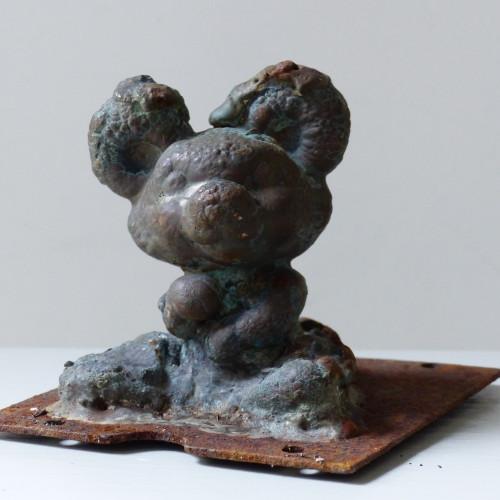 Ancien moule de figurine Pouet Pouet - petite souris assise