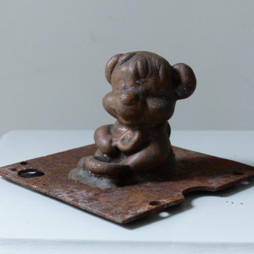 Ancien moule de figurine Pouet Pouet - Ourson à la cuillère