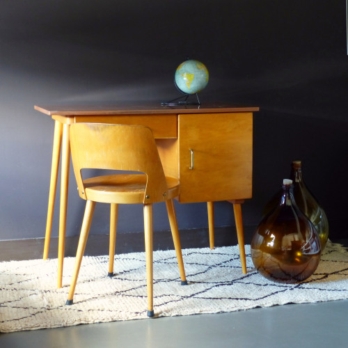 Bureau et chaise Baumann pour enfant