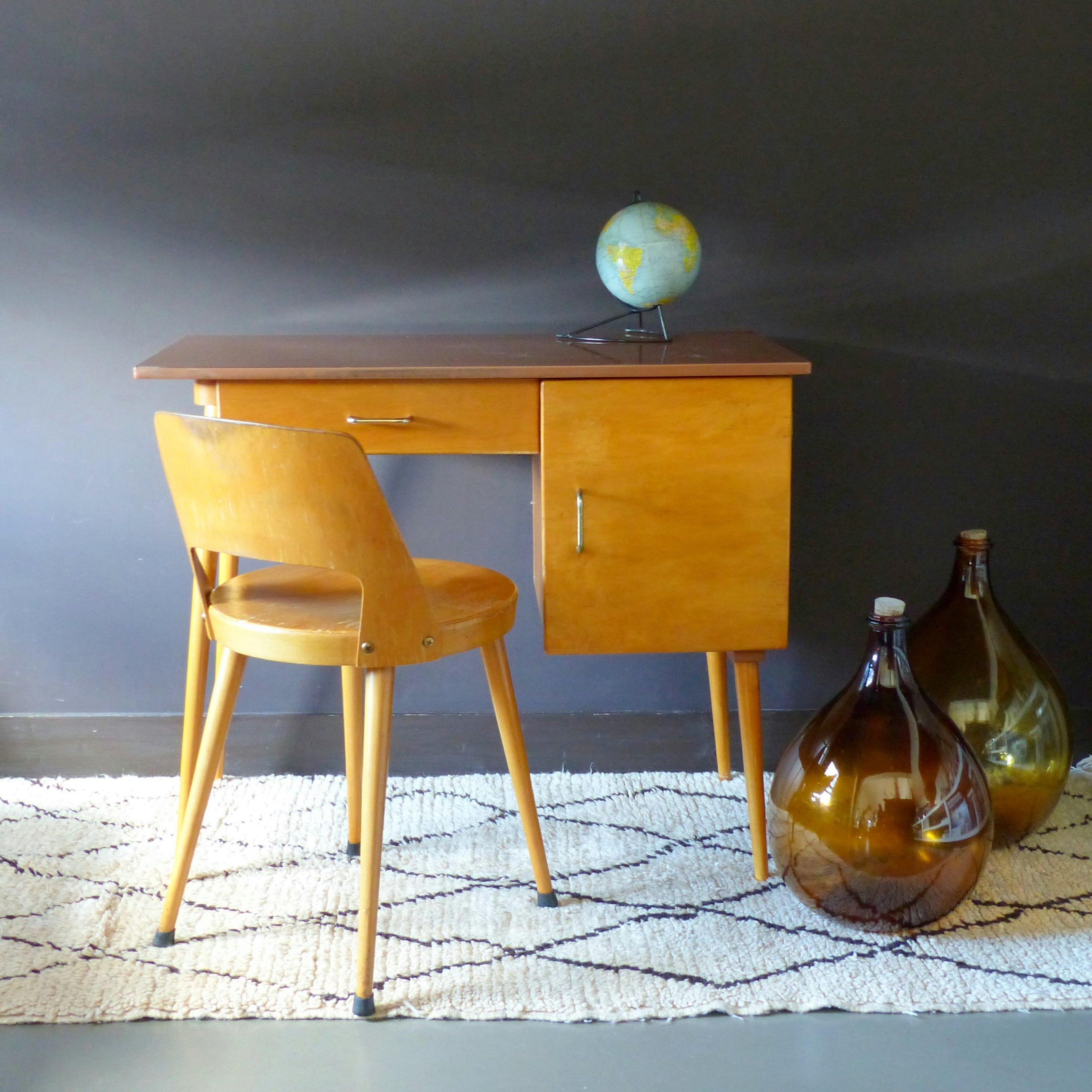 Bureau et chaise baumann pour enfant lignedebrocante for Meubles brocante en ligne