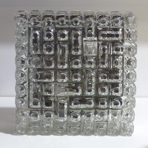 Grande applique / plafonnier vintage ERCO en verre