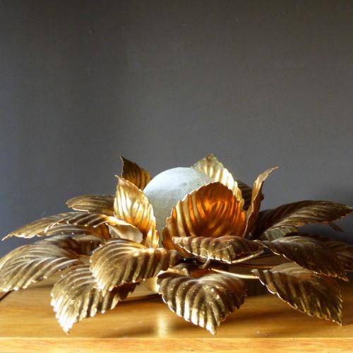 Applique fleur Masca en métal doré
