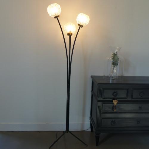 Lampadaire vintage à 3 feux