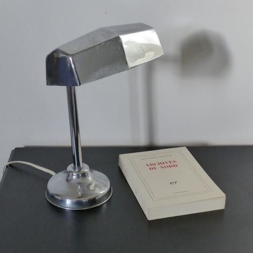 Lampe de bureau chromée art déco