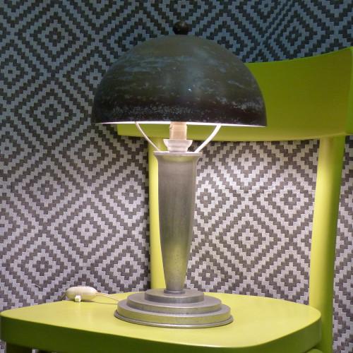 Lampe champignon art déco
