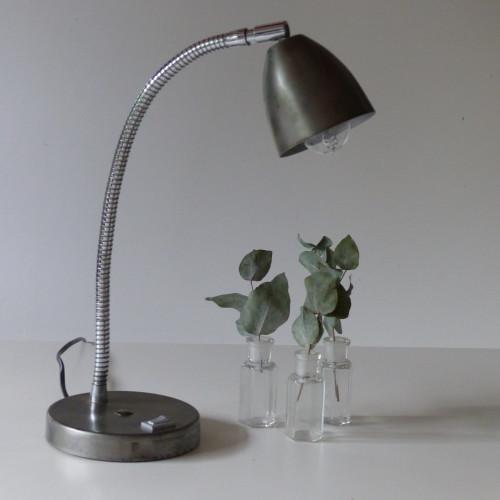 Lampe cocotte en métal brut