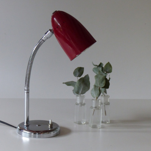 Petite lampe cocotte vintage rouge