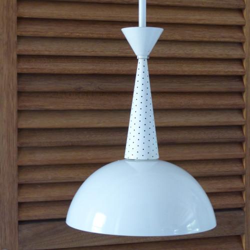 Lot de suspensions Holophane modernistes inspirées du designer M. Matégot