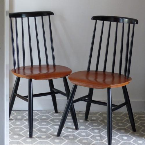Série de 4 chaises dlg Fanett Ilmari Tapiovaara