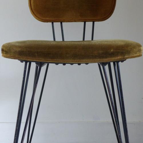 Paire de chaises vintage SIF pieds Eiffel