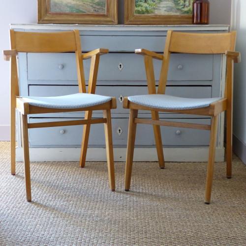 Duo de fauteuils bridge des années 50