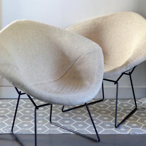 Paire de fauteuils Diamond H. Bertoïa pour KNOLL