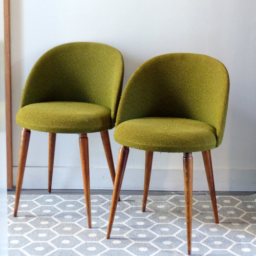 Paire de petits fauteuils vintage