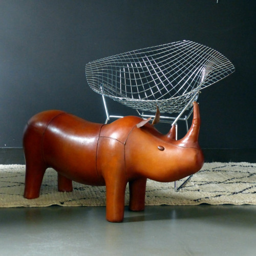 Rhinocéros en cuir