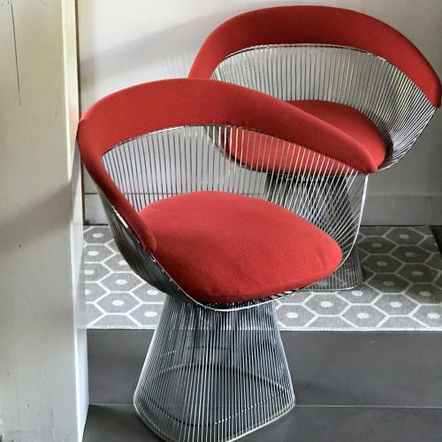 Paire de fauteuils Warren Platner pour Knoll
