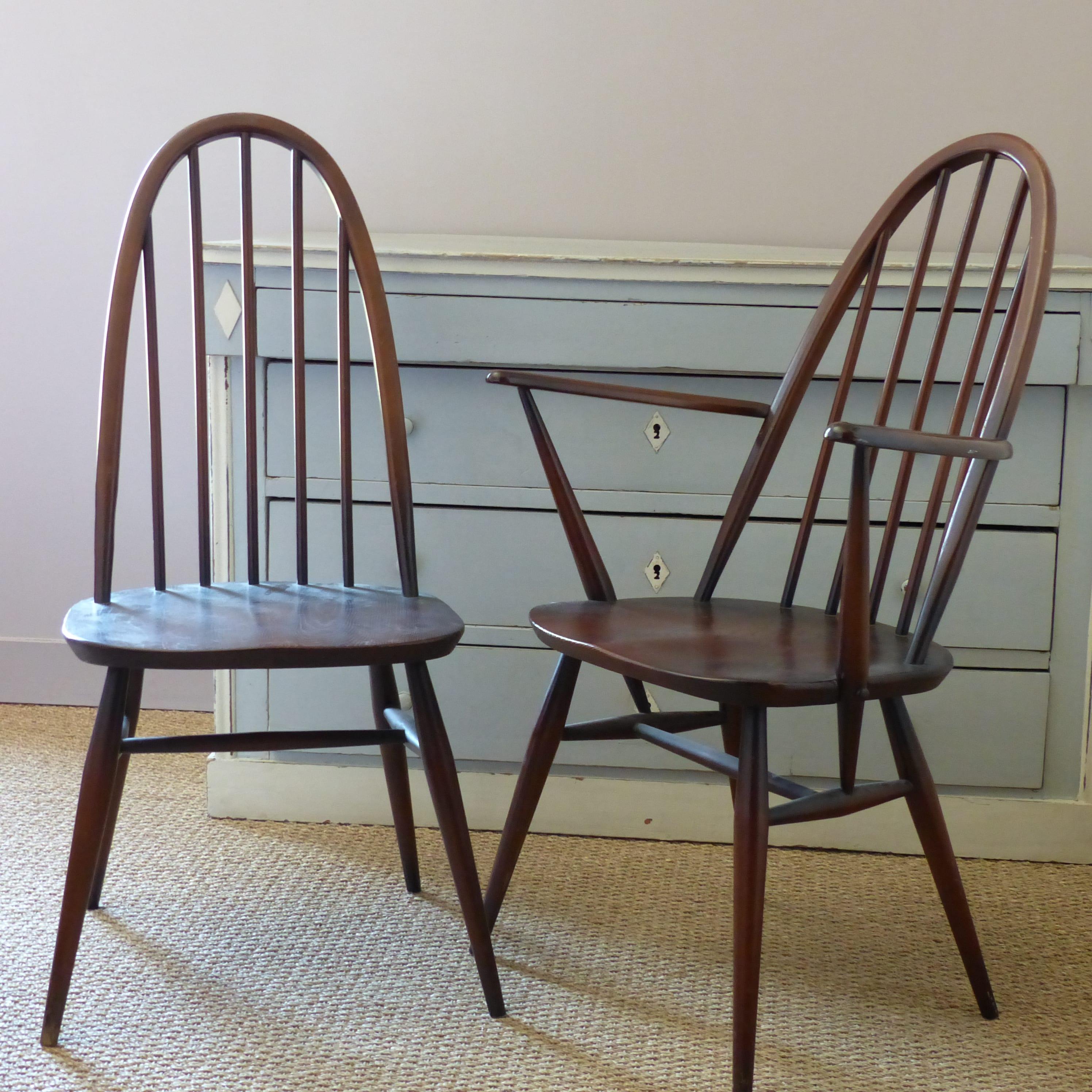 chaise anglaise ercol windsor quaker ann es 60. Black Bedroom Furniture Sets. Home Design Ideas